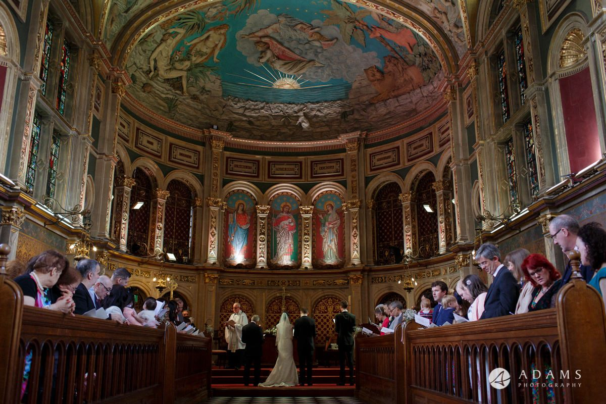 Royal Holloway wedding view of the chapel alter