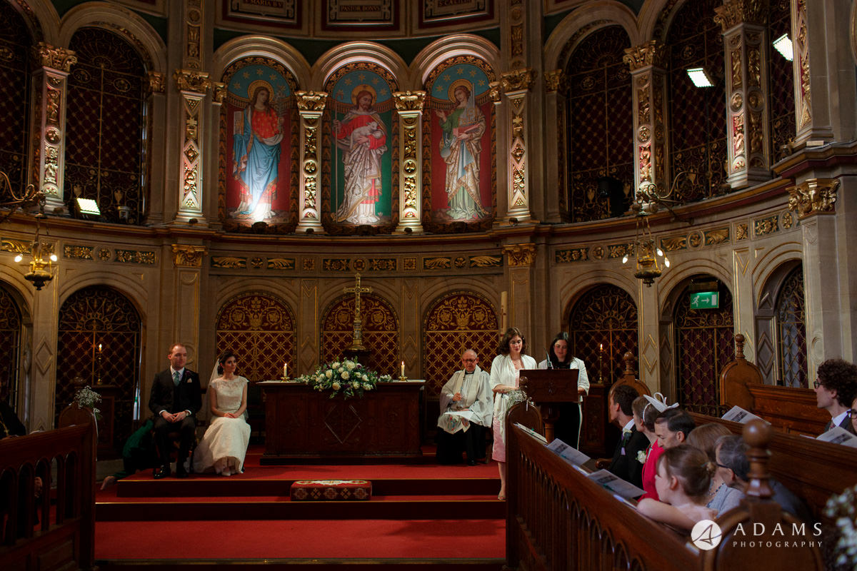 Royal Holloway wedding view of the alter