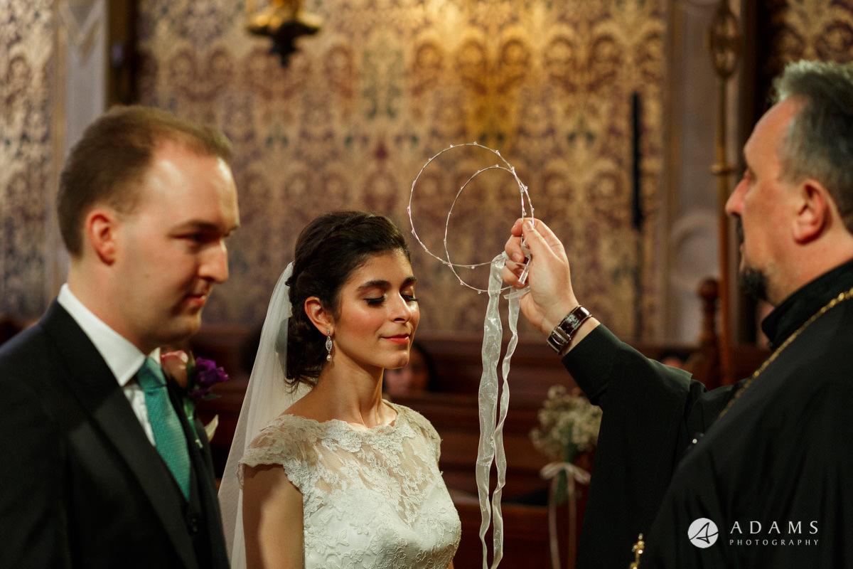 royal holloway wedding greek crown ceremony