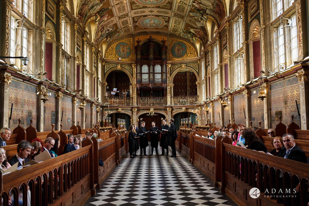 royal holloway wedding the choir