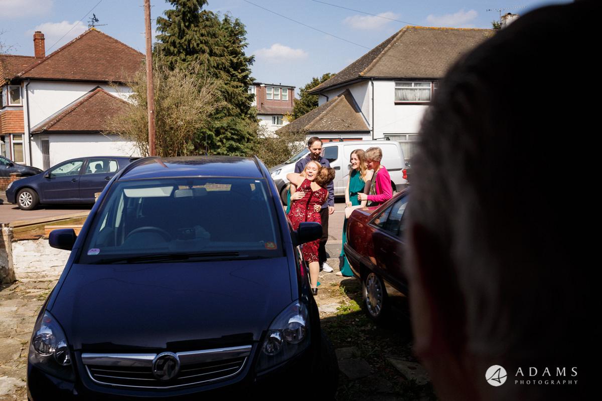 Royal Holloway Wedding family arrives
