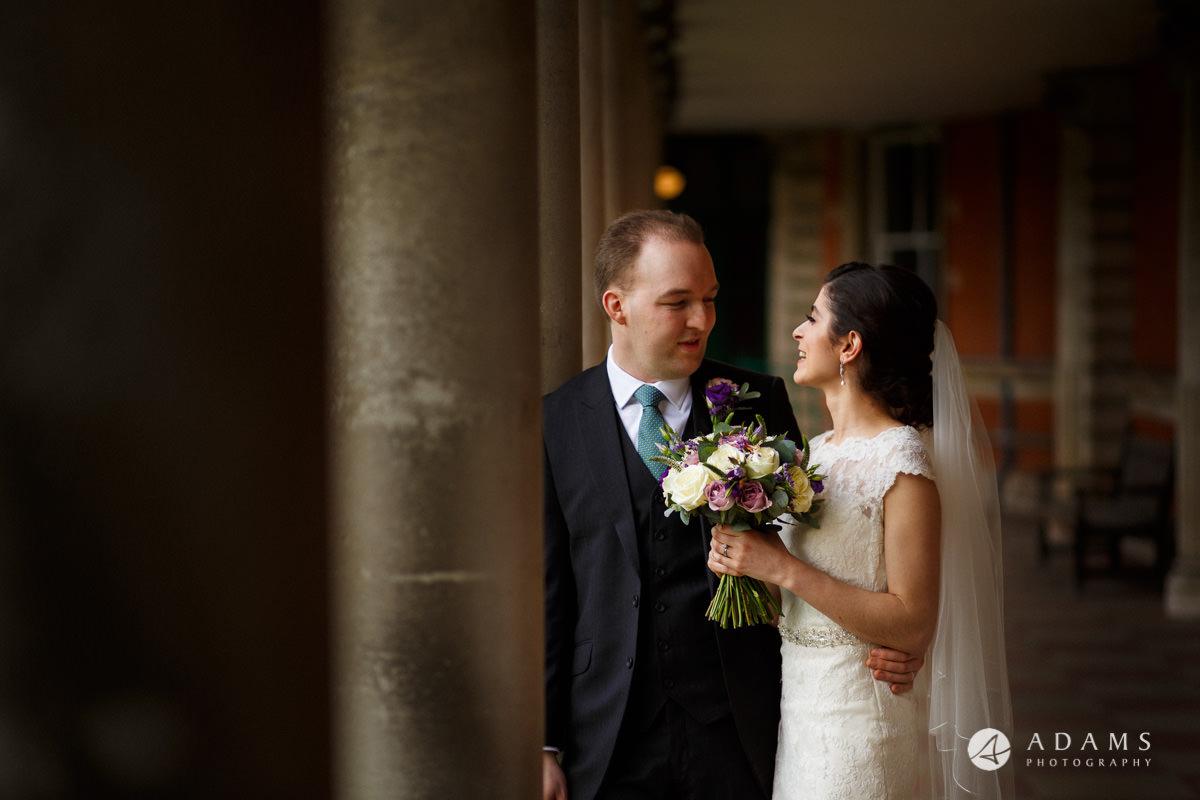 royal holloway wedding photographer bride and groom couple portrait