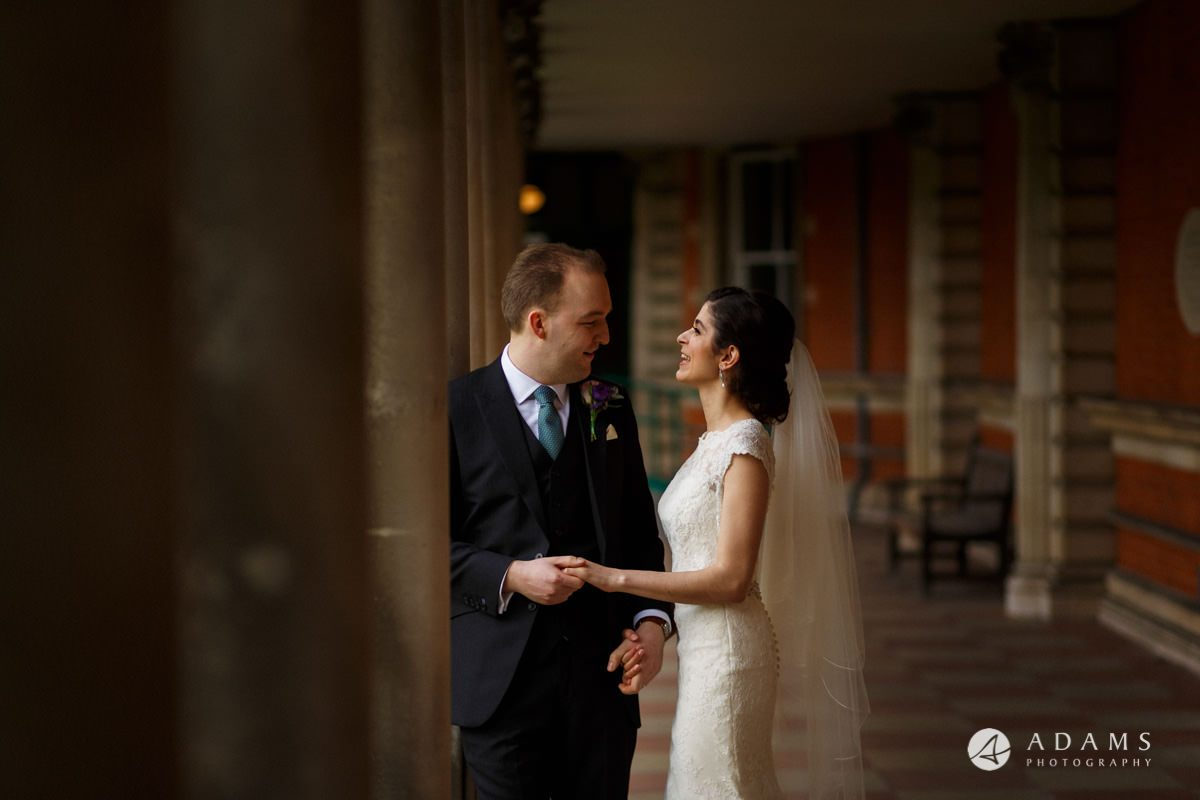 royal holloway wedding couple portrait