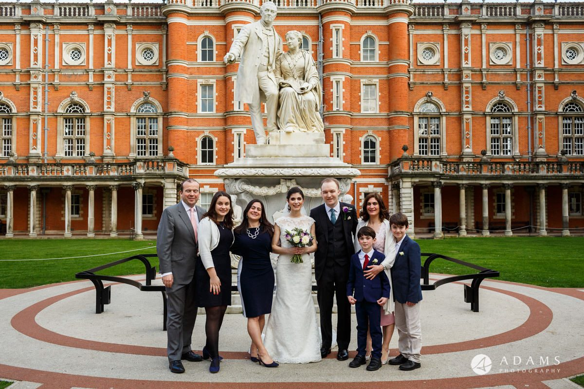royal holloway wedding family photo