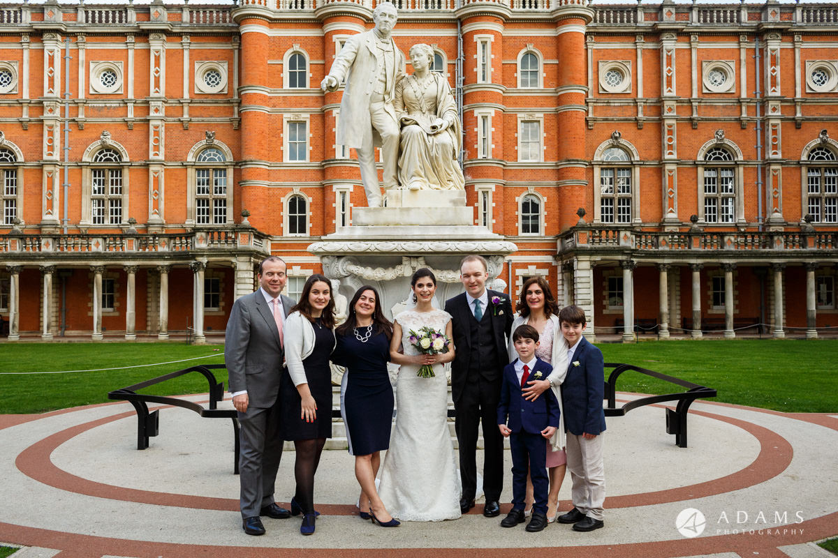 royal holloway wedding family photo