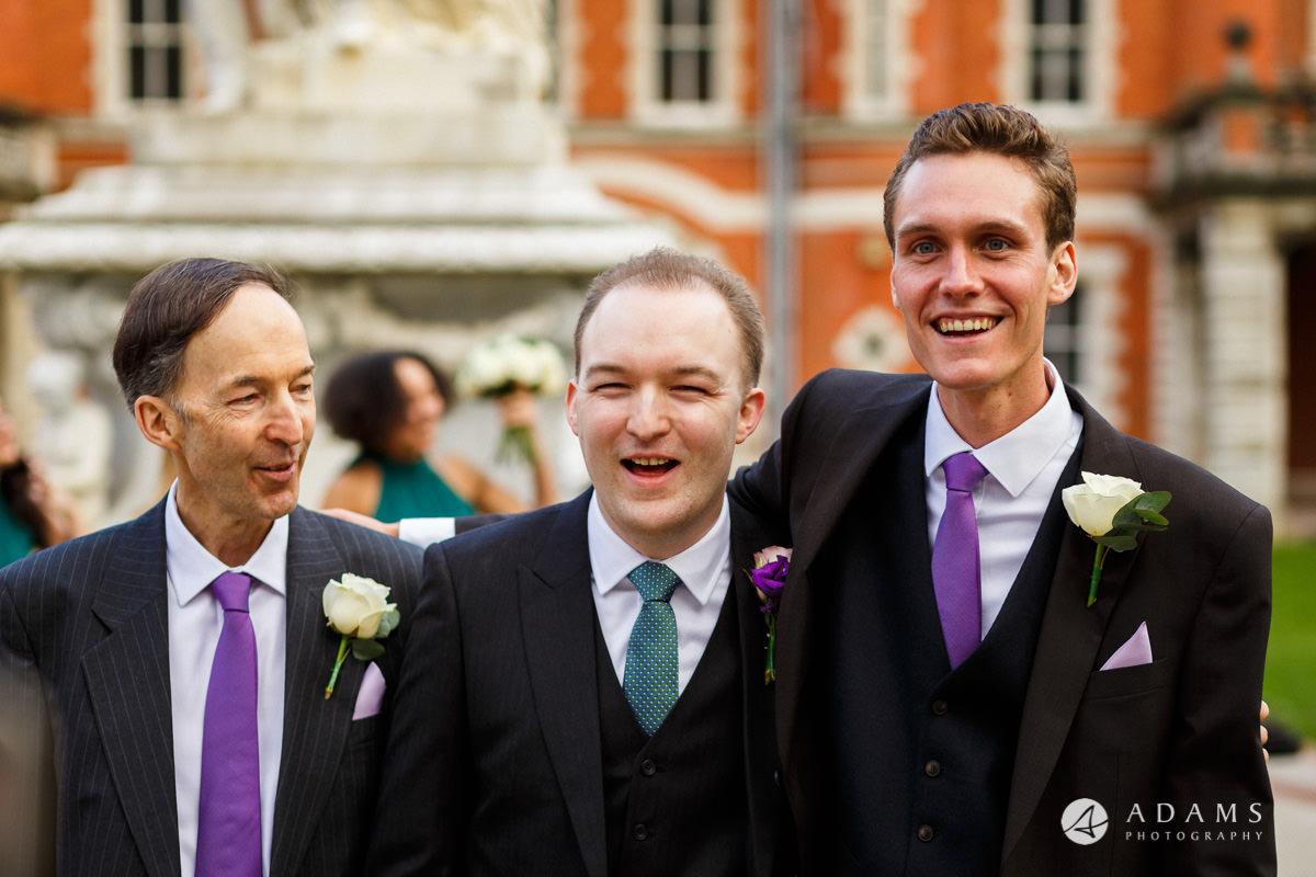 royal holloway wedding bestman with thegroom