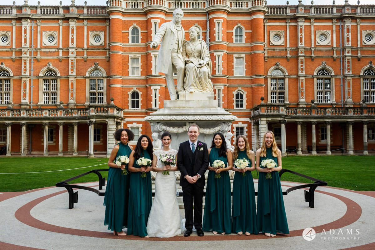 royal holloway wedding bridal party