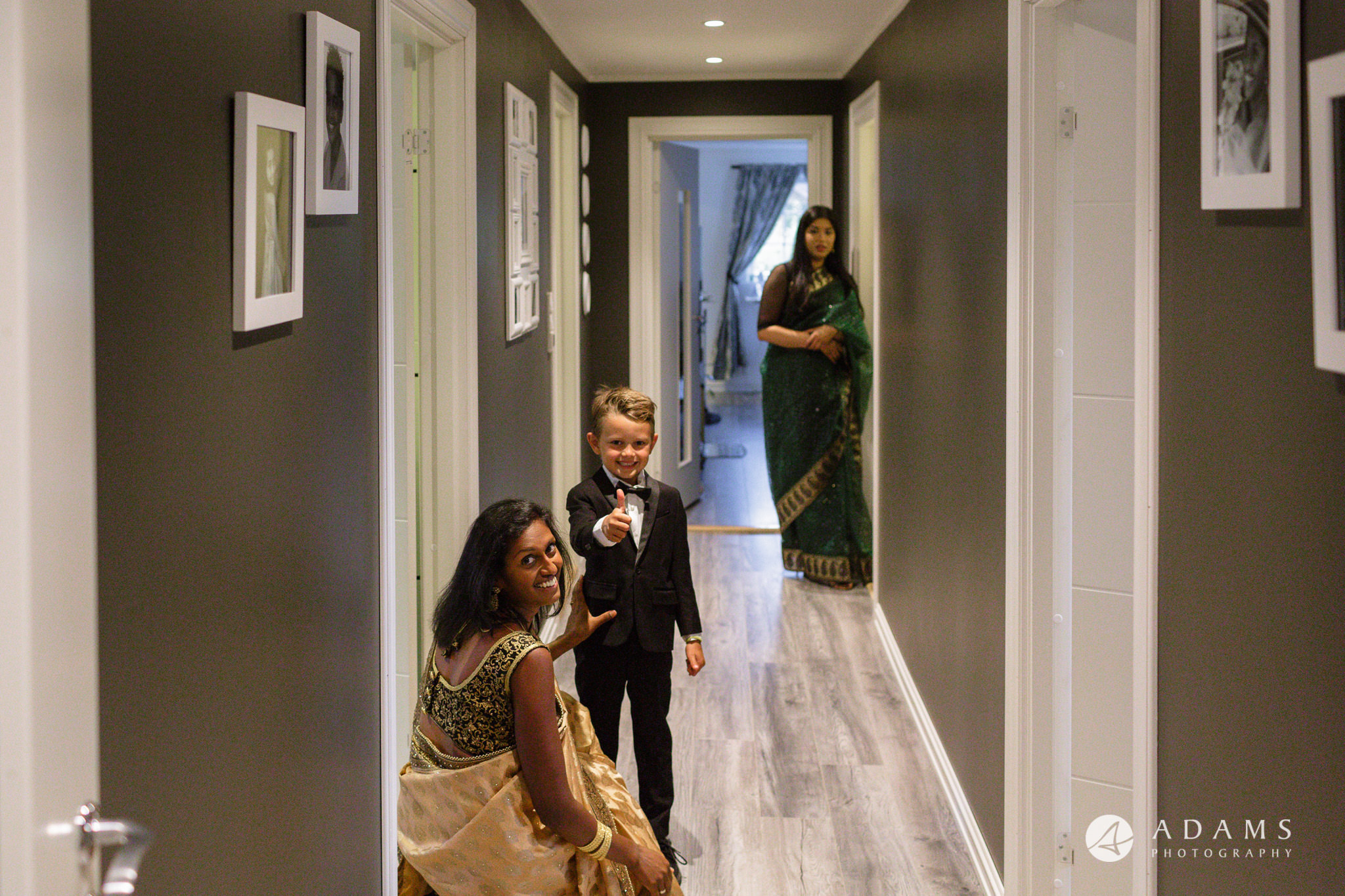 Oslo Wedding Photos Norway photo of the family in the corridor