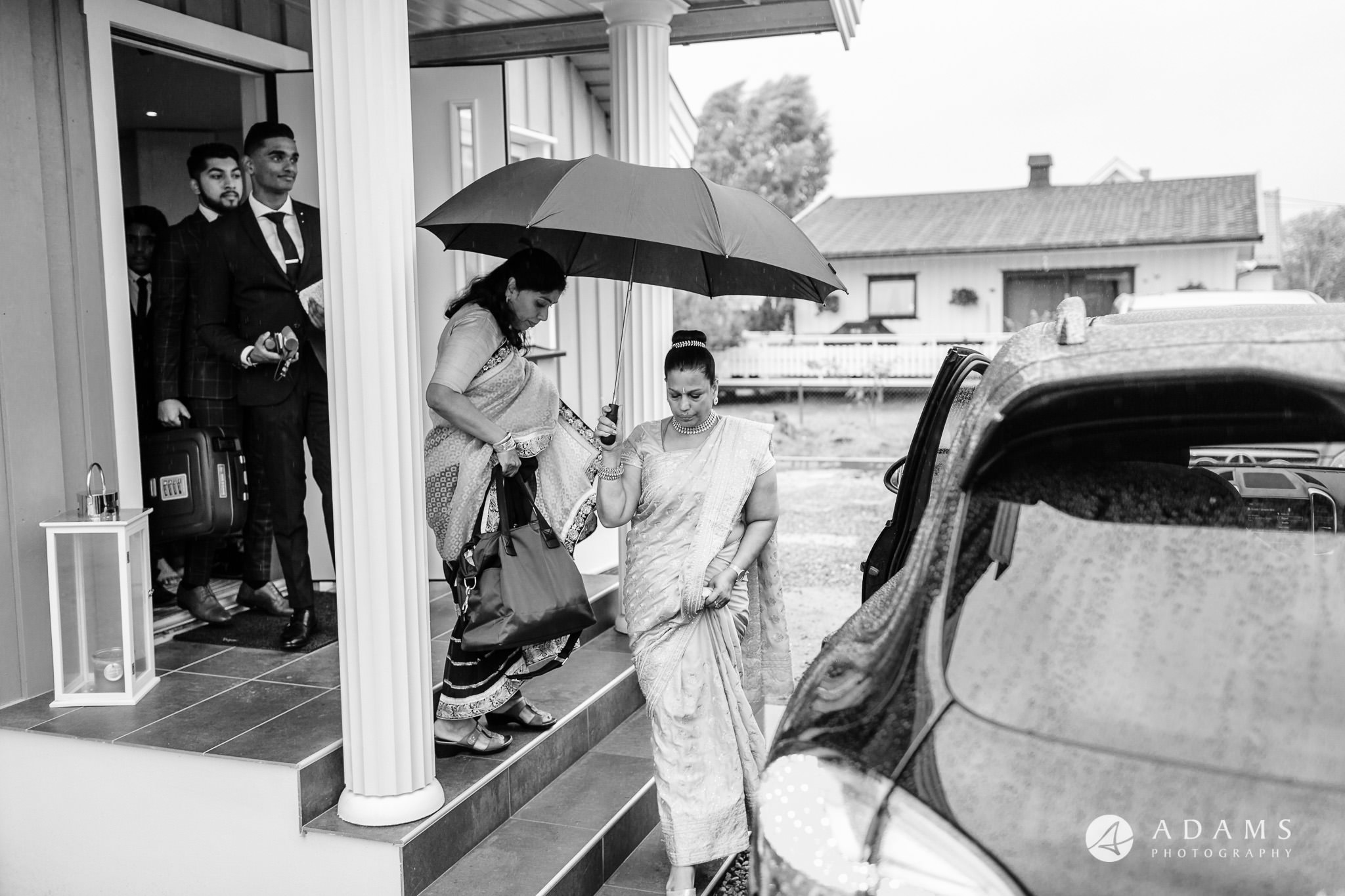 Oslo Wedding Photos Norway photo of family leaving the house