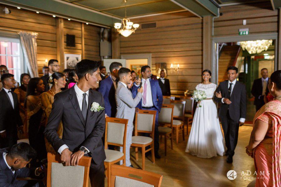 Oslo Wedding Photos Norway photo of bride arrives