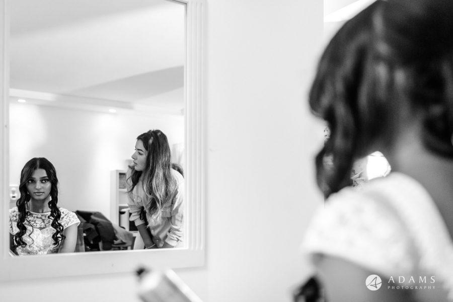 Oslo Wedding Photos Norway bride mirror reflection