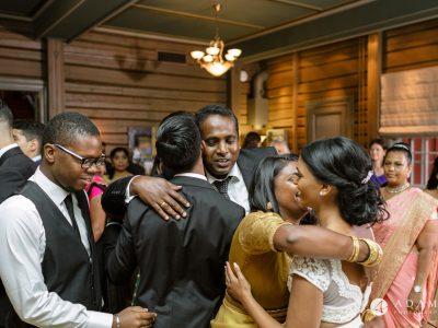 Oslo Wedding family hugs after the wedding ceremony