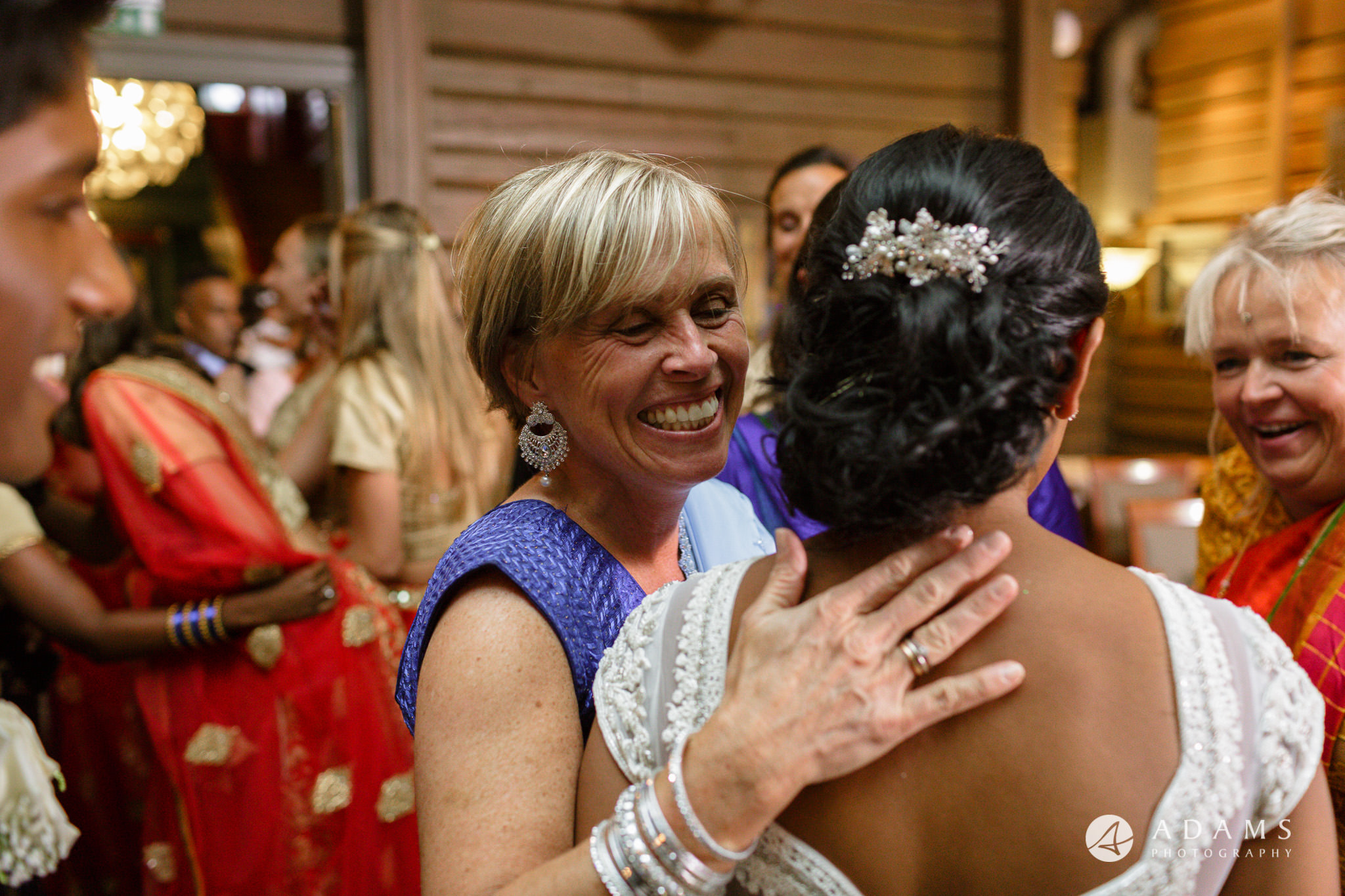 Oslo Wedding Photography guest smiling at the bride