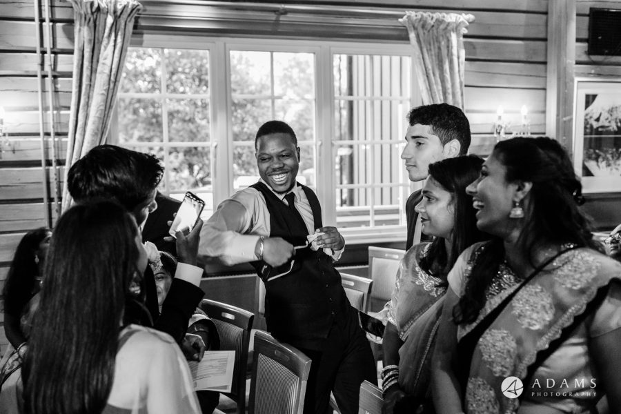 Oslo Wedding Photography guests laughing