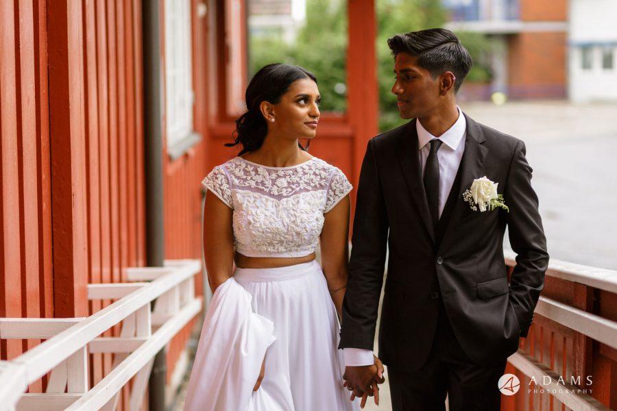 Oslo Wedding Photography married couple walking together