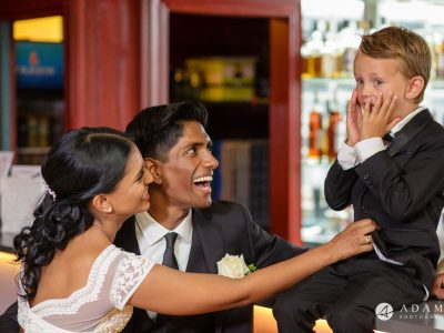 Norway Wedding Photography kids screen in joy