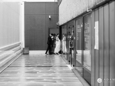Norway Wedding bride and groom enter the reception
