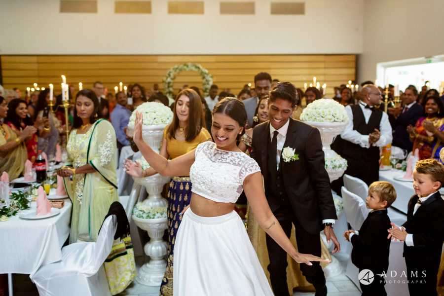 Norway Tamil Wedding married couple entrance dancing
