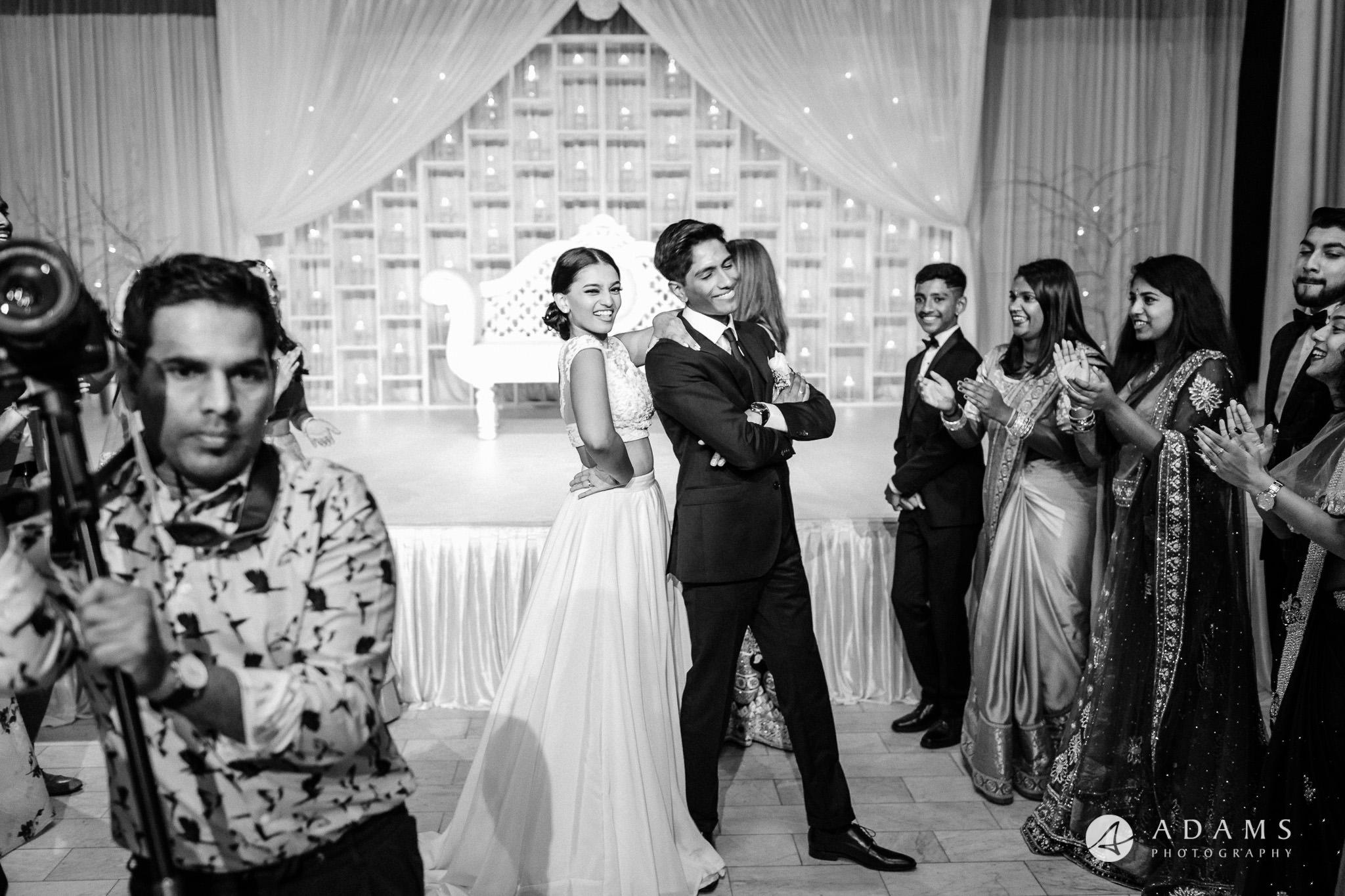 Norway Tamil Wedding couple dancing