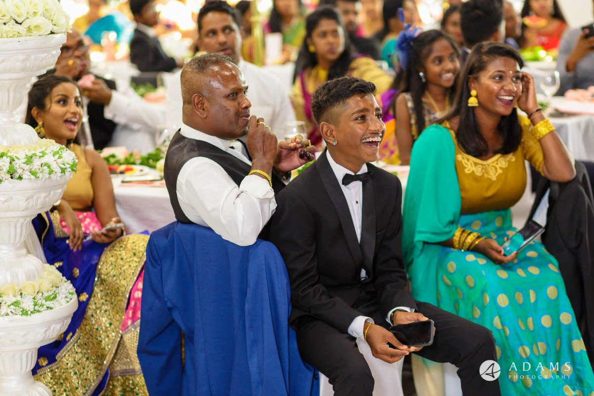 Oslo Tamil Wedding guests smile