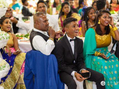 Oslo Tamil Wedding guests smile