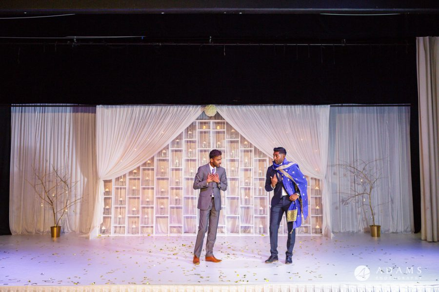 Oslo Tamil Wedding stage performance two friends