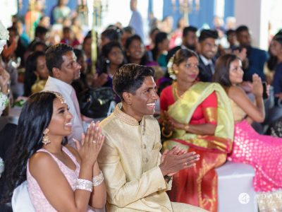 Oslo Tamil Wedding bride and groom reaction to the performance