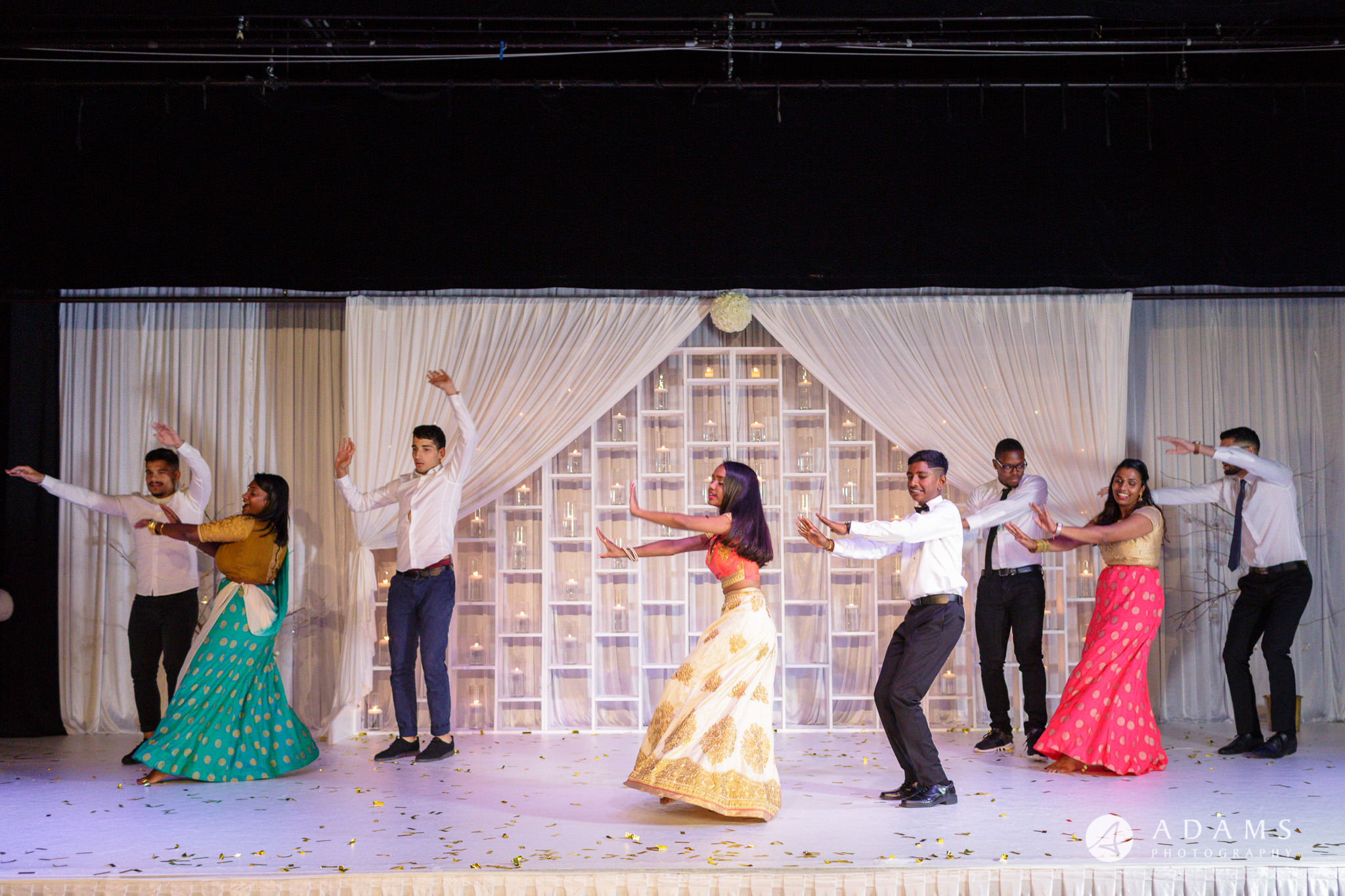 Oslo Tamil Wedding dance on the stage