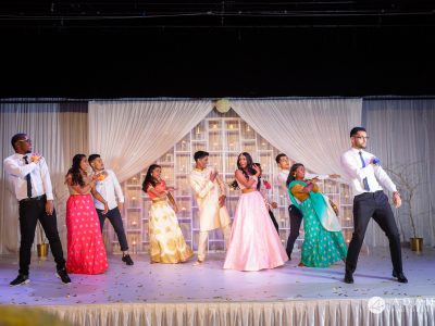 Oslo Tamil Wedding big group dance on the stage