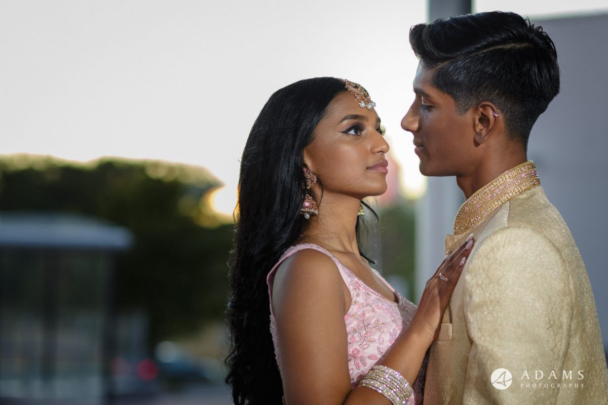 Oslo Tamil Wedding golden hour photo shoot