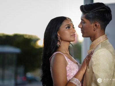 Oslo Tamil Wedding golden hour photo shoot