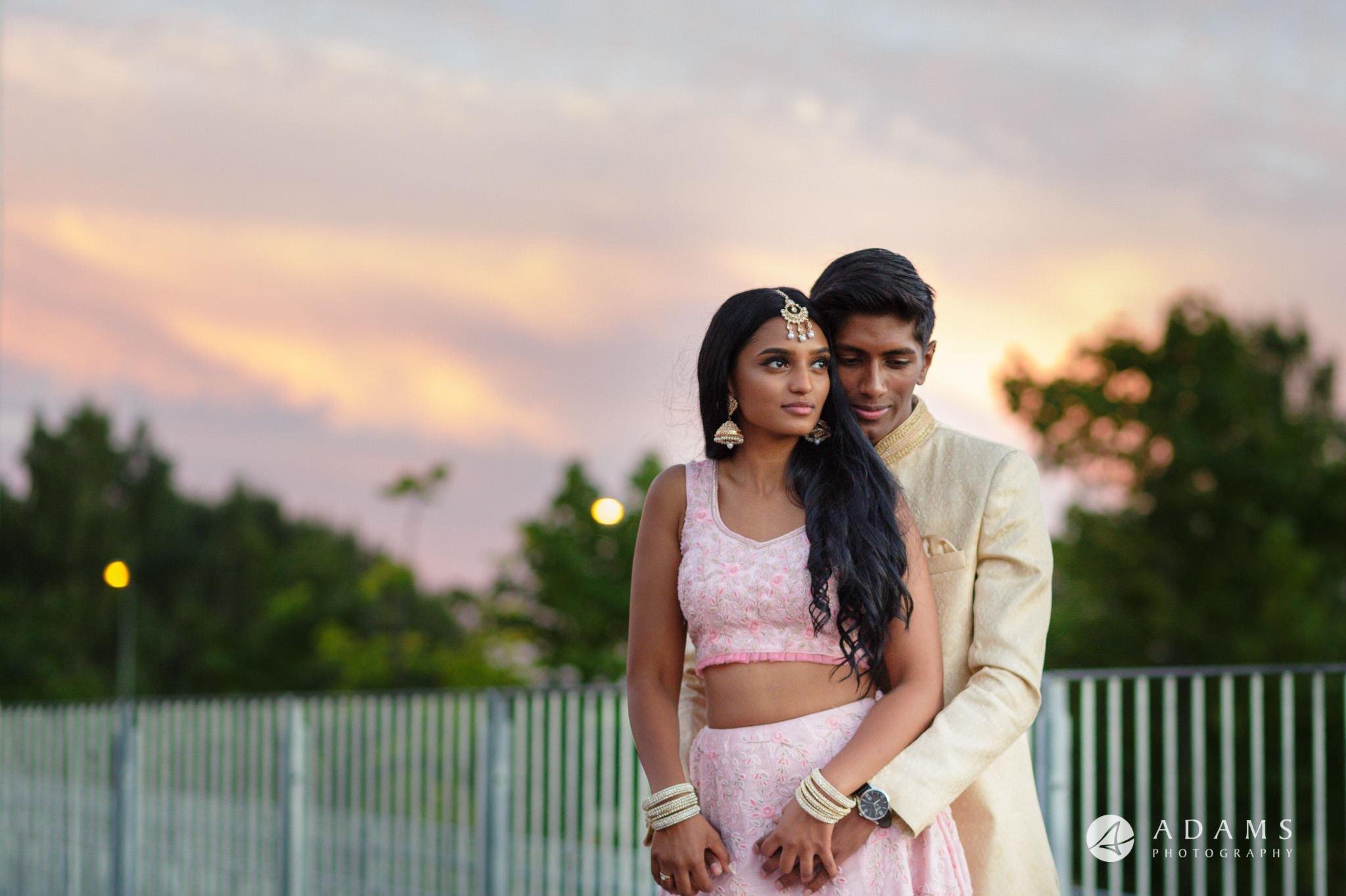 Oslo Tamil Wedding couple hugging