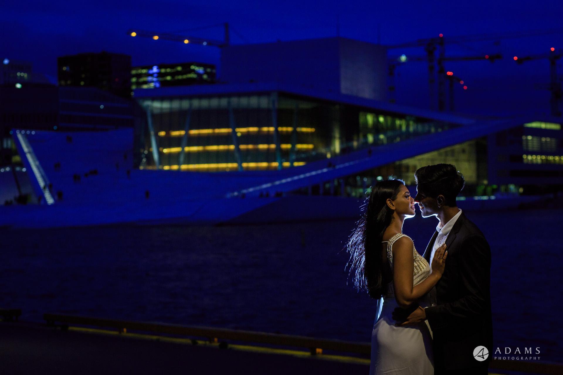 Engagement Photos Oslo evening photo shoot