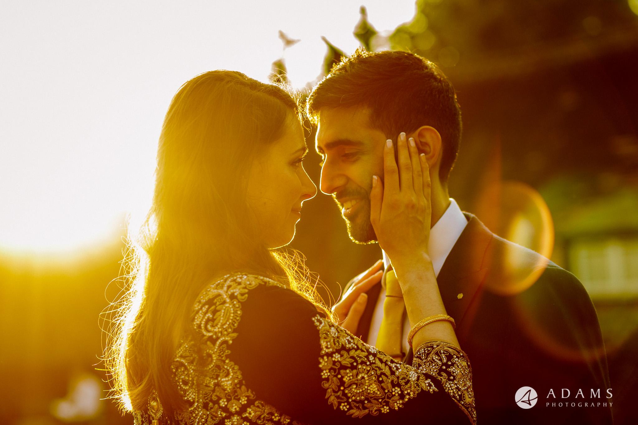 Great Barn Ruislip wedding photography couple kissing each other
