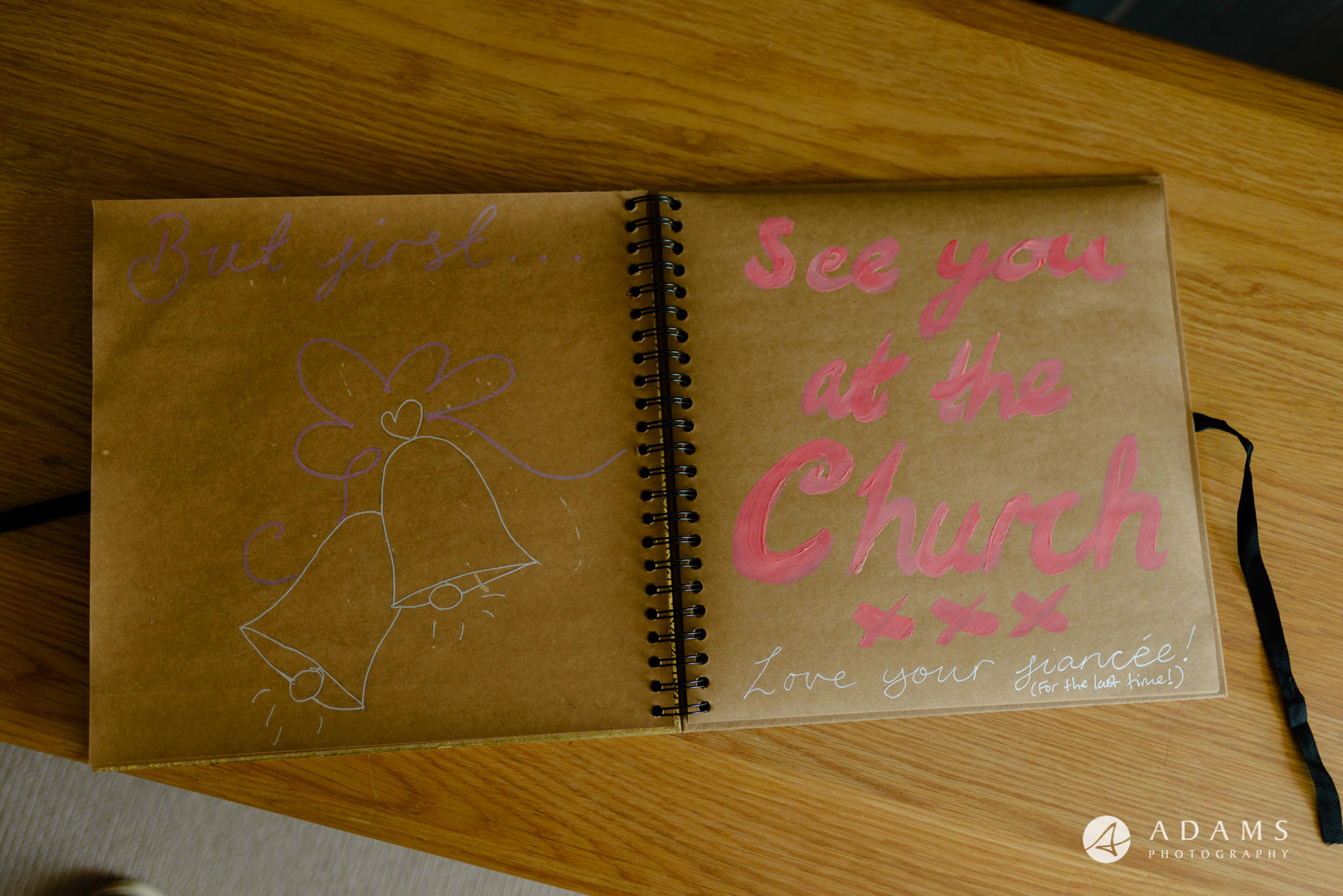 st donats castle wedding invitation book
