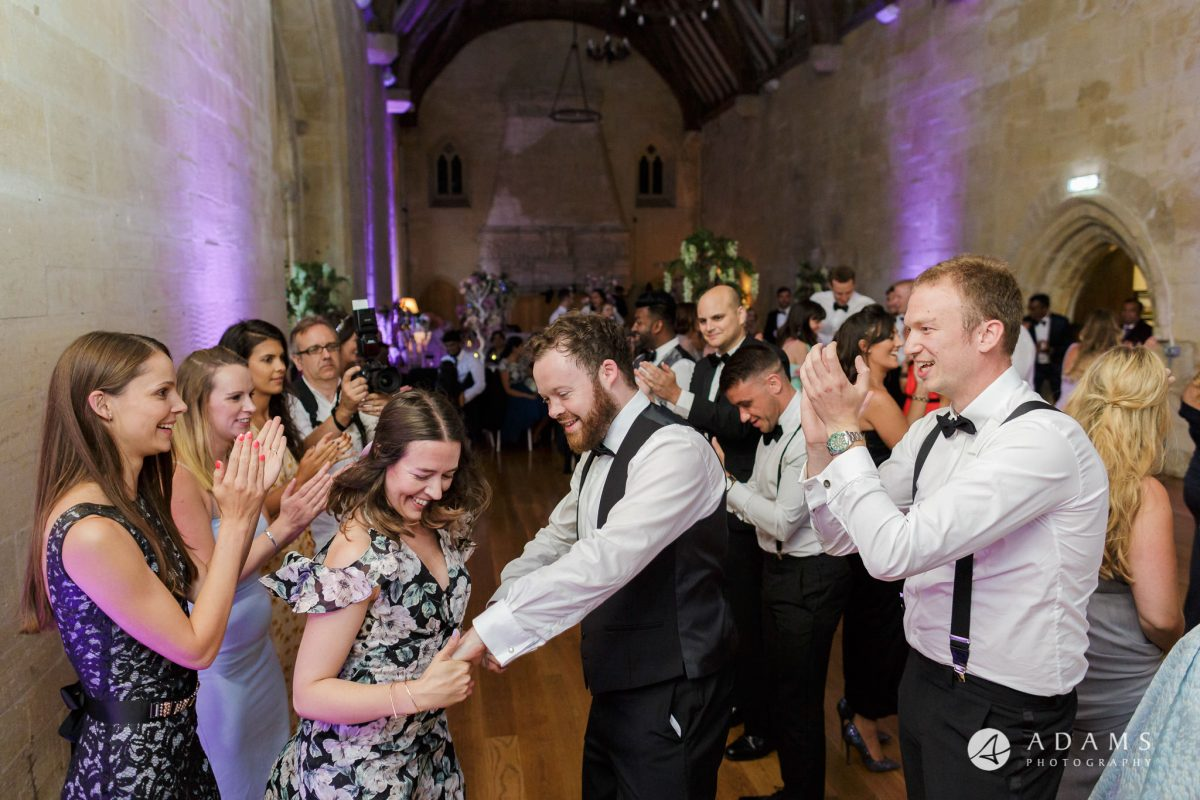 st donats castle wedding guest dancing the ceilidh dance