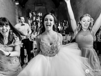 st donats castle wedding bride is having great time dancing