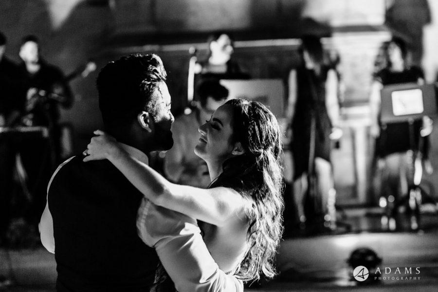st donats castle wedding first dance close up