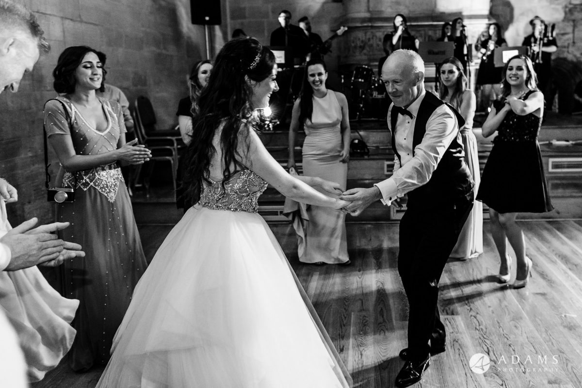 st donats castle wedding bride dances with her father