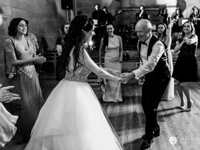 st donats castle wedding bride dances with her father