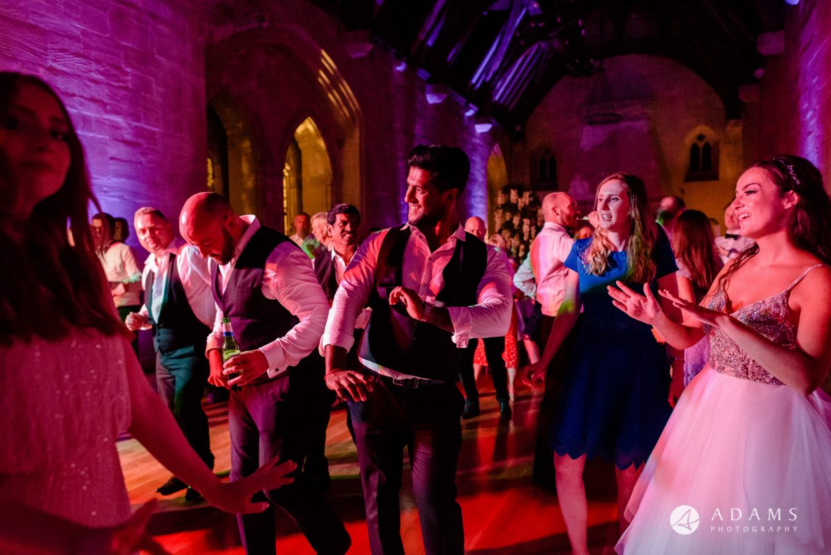 st donats castle wedding dance floor