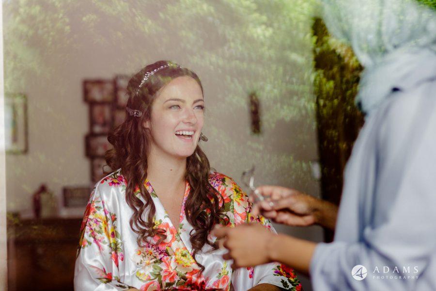 st donats castle wedding bride getting ready