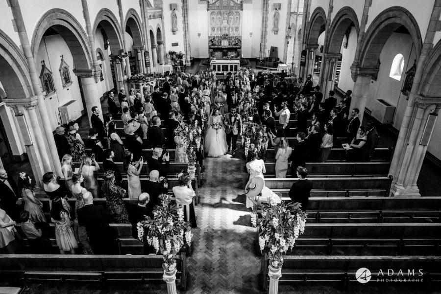 st donats castle wedding exit form the church
