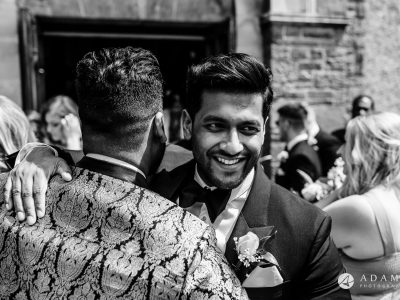 st donats castle wedding grooms bother giving him a big hug