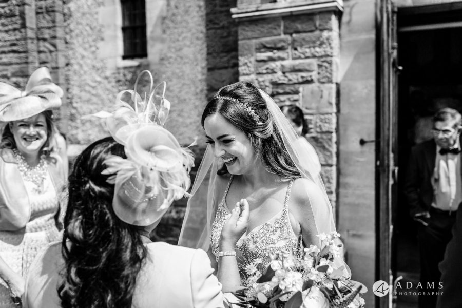 st donats castle wedding bride smiles to her mother in law