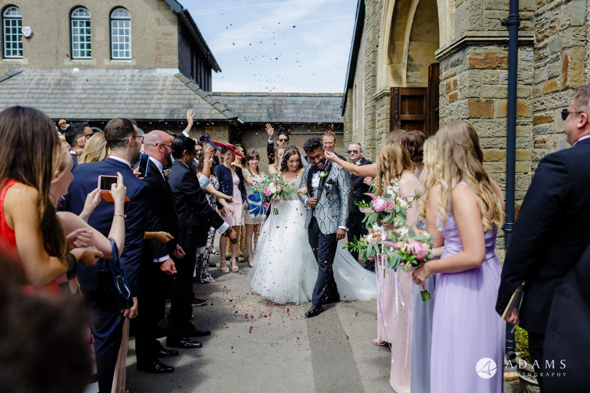 st donats castle wedding confetti shot