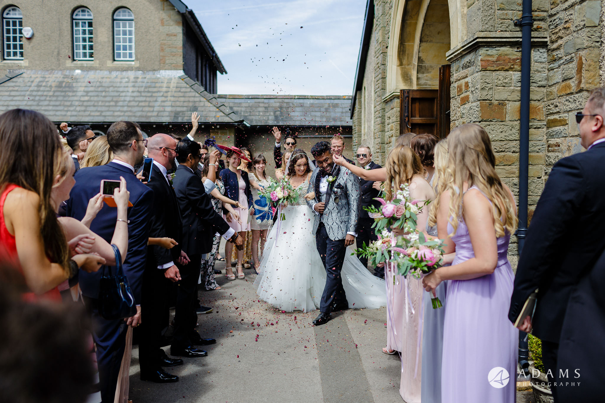 st donats castle wedding confetti shot