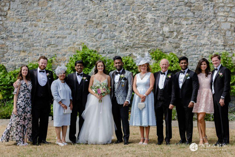 st donats castle wedding family group shot