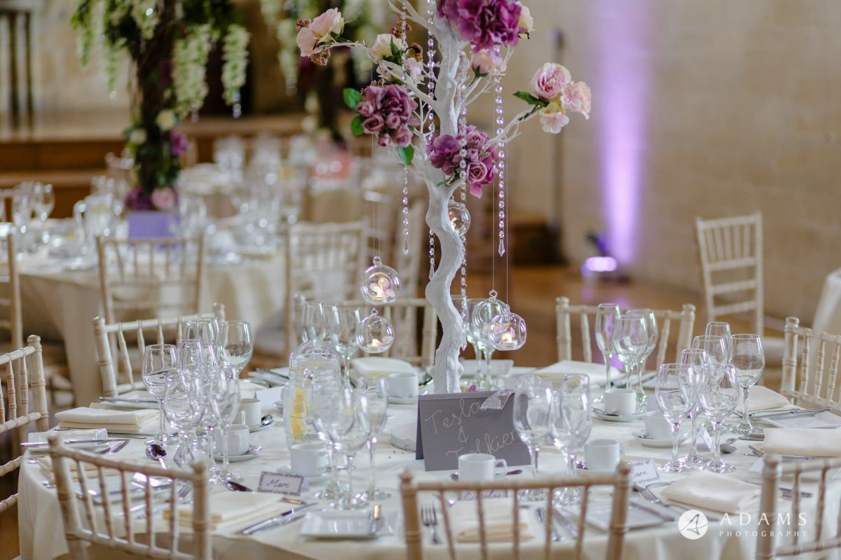 st donats castle wedding dining room details