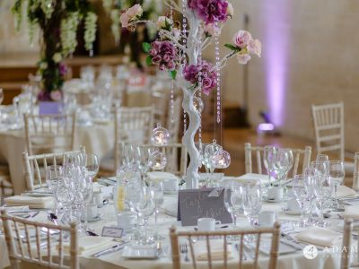 st donats castle wedding dining room details
